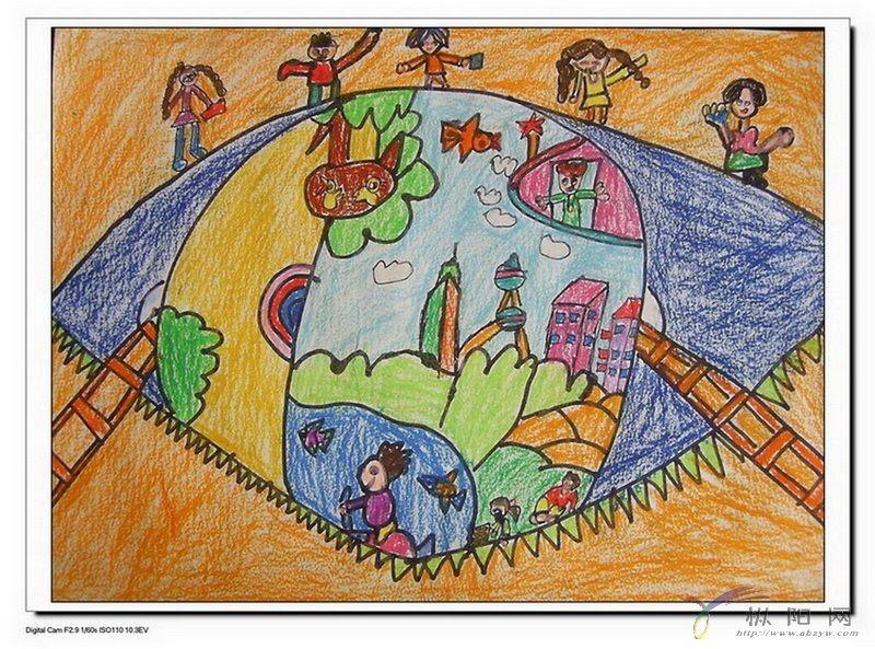 童眼看世界——旗山小学美术比赛作品01